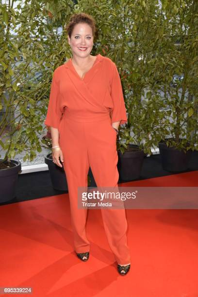 Muriel Baumeister attends the Cocktail prolonge to the Semi-Final Round Of Judging Of The International Emmy Awards 2017 on June 12, 2017 in Berlin,...
