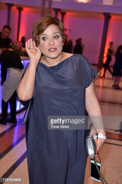 Muriel Baumeister attends the Deutscher Hoerfilmpreis on March 19, 2019 in Berlin, Germany.