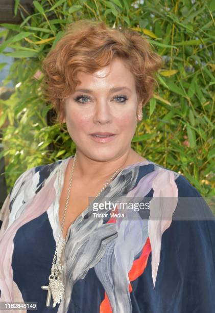 Muriel Baumeister attends the Goetz George Award at Astor Film Lounge on August 19, 2019 in Berlin, Germany.