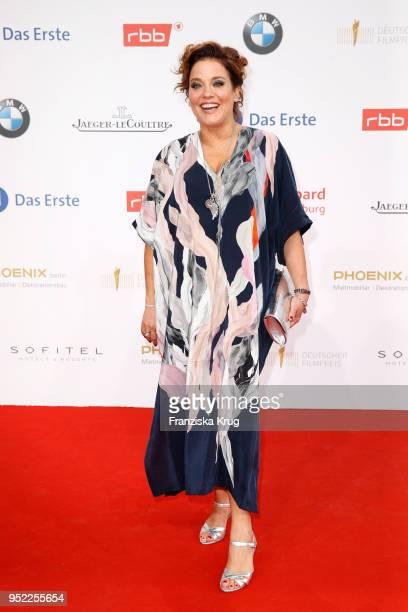 Muriel Baumeister attends the Lola - German Film Award red carpet at Messe Berlin on April 27, 2018 in Berlin, Germany.
