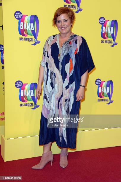 """Muriel Baumeister attends the """"The Band - Das Musical"""" premiere at Stage Theater des Westens on April 11, 2019 in Berlin, Germany."""