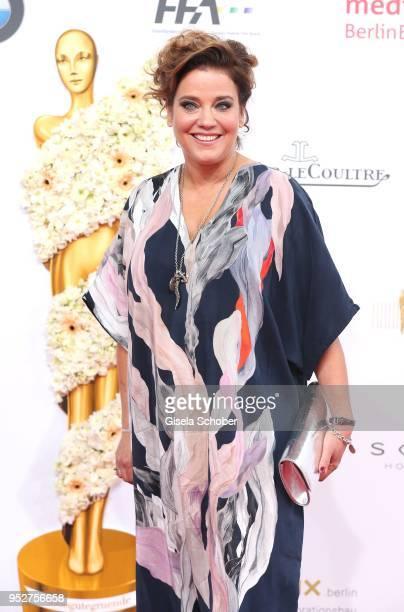 Muriel Baumeister during the Lola - German Film Award red carpet at Messe Berlin on April 27, 2018 in Berlin, Germany.