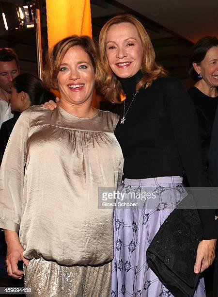 Muriel Baumeister Katja Flint during the ARD advent dinner hosted by the program director of the tv station Erstes Deutsches Fernsehen at Hotel...