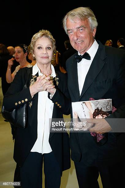 Muriel Belmondo and guest attend the AROP Charity Gala Held at Opera Bastille on May 21 2014 in Paris France