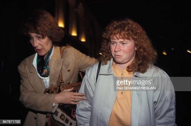Muriel Bolle a a l'ouverture du proces de JeanMarie Villemin pour le meurtre de Bernard Laroche le 24 novembre 1993 a Dijon France