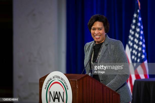 Muriel Bowser, mayor of Washington, DC, speaks during the National Action Network Breakfast on January 21, 2019 in Washington, DC. Martin Luther King...