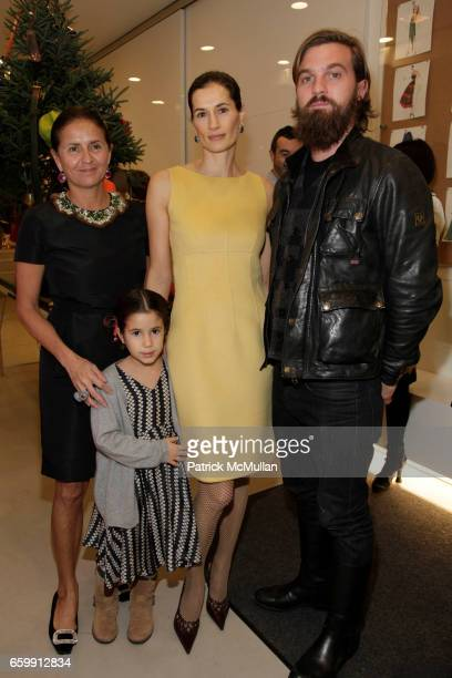 Muriel Brandolini Romy Lauer Annette Lauer and Max Snow attend ISAAC MIZRAHI and MURIEL BRANDOLINI Host a Cocktail Party to Celebrate the Limited...