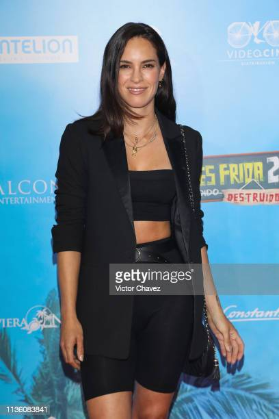 Muriel Hernandez attends No Manches Frida 2 Mexico City premiere red carpet at Cinepolis Plaza Universidad on April 9 2019 in Mexico City Mexico