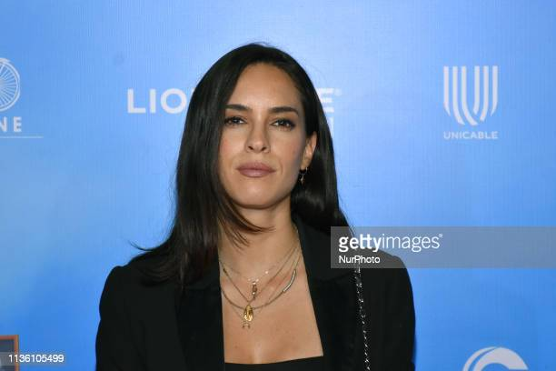 Muriel Hernandez Perez poses for photos during the red carpet of 'No Manches Frida 2' film premiere at Cinepolis Plaza Universidad on April 09 2019...