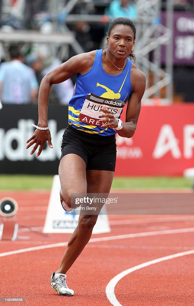 Muriel Hurtis of France competes in the mens 400m during the 2012 French Elite Athletics Championships at the Stade du Lac de Maine on June 16, 2012 in Angers, France.