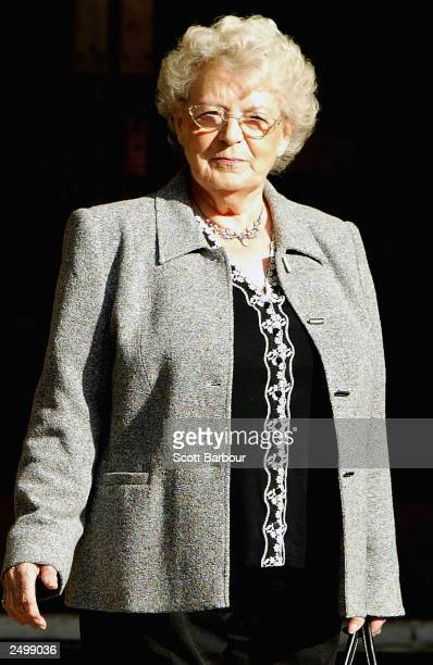 Muriel Jakubait sister of Ruth Ellis arrives at the High Court on September 16 2003 in London Lawyers for the family of Ruth Ellis the last woman to...