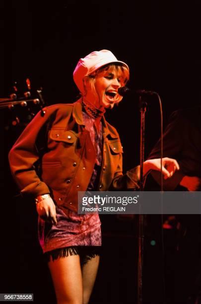 Muriel Moreno du groupe Niagara en concert à l'Olympia de Paris le 10 mars 1987 France