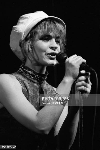 Muriel Moreno du groupe Niagara en concert à l'Olympia le 11 mars 1987 France