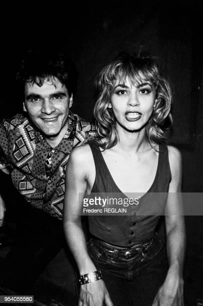 Muriel Moreno et de Daniel Chenevez membres du groupe Niagara à Paris le 11 mars 1987 France