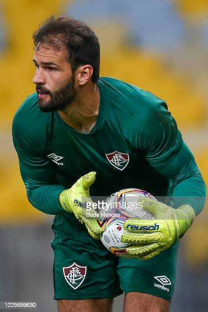 Muriel of Fluminense holds the ball during the match between Flamengo and Fluminense as part of the Taca Rio the Second Leg of the Carioca State...