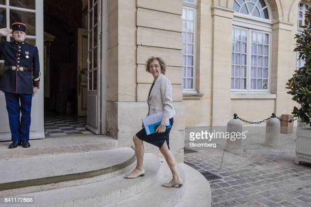 Muriel Penicaud France's minister for labour arrives ahead of a meeting at the official residence of France's Prime Minister Edouard Philippe in...