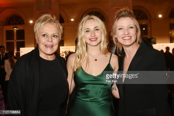 Muriel Robin Alexandra Lamy and Chloe Jouannet attend the 26th 'Trophees Du Film Francais' Photocall at Palais Brongniart on February 05 2019 in...