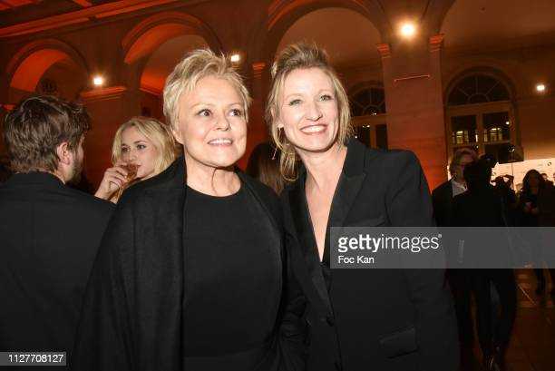 Muriel Robin and Alexandra Lamy attend the 26th 'Trophees Du Film Francais' Photocall at Palais Brongniart on February 05 2019 in Paris France