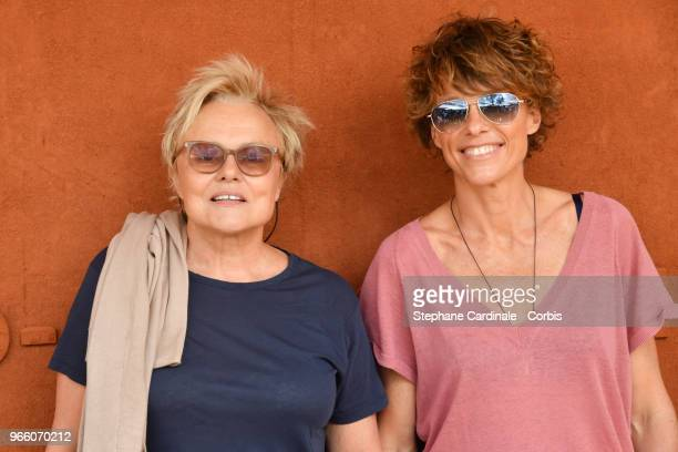 Muriel Robin and Anne Le Nen attend the 2018 French Open Day Seven at Roland Garros on June 2 2018 in Paris France