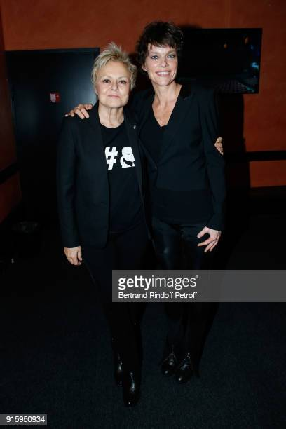 Muriel Robin and Anne Le Nen attend the Alex Lutz One Man Show At L'Olympia on February 8 2018 in Paris France