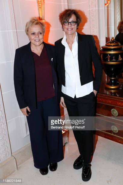 Muriel Robin and Anne Le Nen attend the Stethos d'Or 2019 Charity Gala of the Foundation for Physiological Research at on March 11 2019 in Paris...