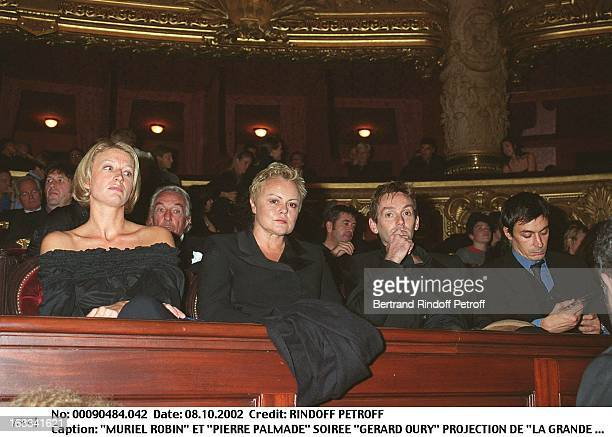 Muriel Robin and 'Pierre Palmade' 'Gerard Oury' film screening of 'La Grande Vadrouille' at the Garnier opera