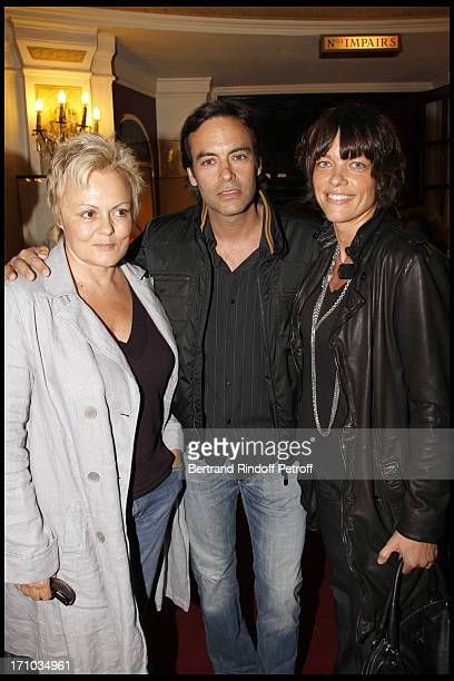 Muriel Robin Anthony Delon Anne Le Nen at Homage To JeanClaude Brialy At Theatre Des Bouffes Parisiens