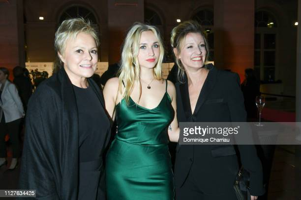 Muriel Robin Chloe Jouannet and Alexandra Lamy attend the 26th 'Trophees Du Film Francais' Photocall at Palais Brongniart on February 05 2019 in...