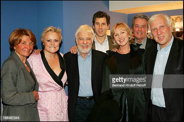 Muriel Robin Francoise Monard Guy Bedos Claude Cheysson Marine Jacquemin Alain Delon and Professor Alain Deloche at Muriel Robin Gives Profits Of Her...