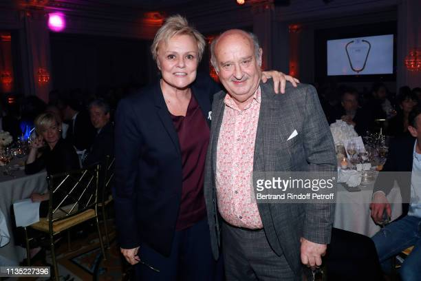 Muriel Robin Gold Stethos category Humorist and Michel Jonasz Gold Stethos category Theater attend the Stethos d'Or 2019 Charity Gala of the...