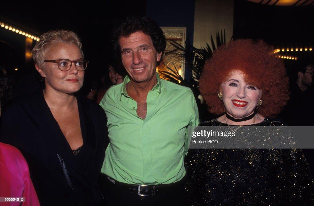 Muriel Robin, Jack Lang et Yvette Horner en 1993 : Photo d'actualité