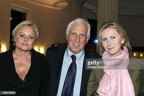 Muriel Robin Pr Alain Deloche and Marine Jacquemin in Paris France on October 25th 2005