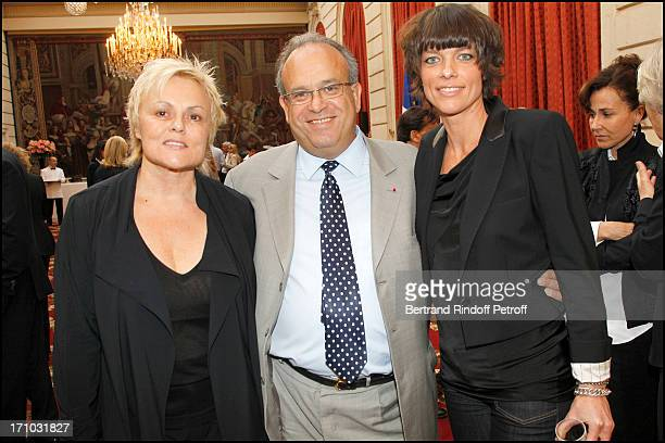 Muriel Robin Professor David Khayat Anne Le Nen at Actress Mireille Darc Received As Commander In the National Order Of Merit During Ceremony At...