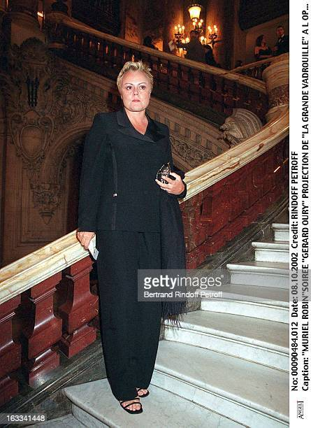 Muriel Robin'Gerard Oury' film screening of 'La Grande Vadrouille' at the Garnier opera