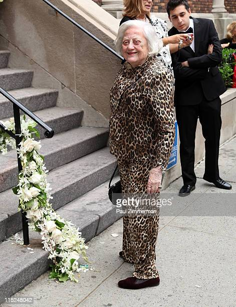 Muriel Siebert attends the wedding of Andrea Catsimatidis and Christopher Nixon Cox at the Greek Orthodox Cathedral Of The Holy Trinity on June 4...