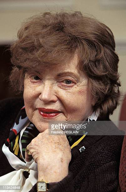 Muriel Spark Author On October 1st1996 In Londres United Kingdom