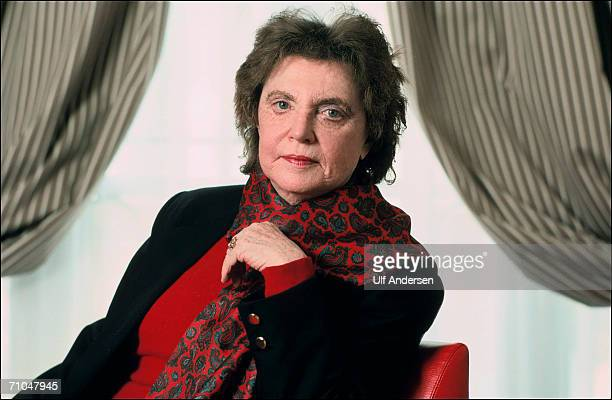 Muriel Spark poses while in ParisFrance to promote her book on the 16th of May 1991