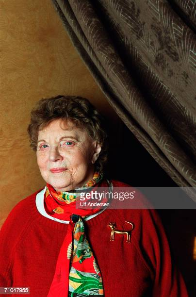 Muriel Spark poses while in ParisFrance to promote her book on the 12th of February 2002