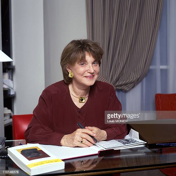 Muriel Spark writer in France in May 1991