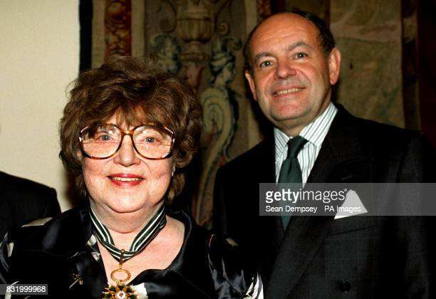 Muriel Spark writer of 'The Prime of Miss Jean Brodie' where she received the Commondeur Order Of Arts Letters for her contributions to literature...