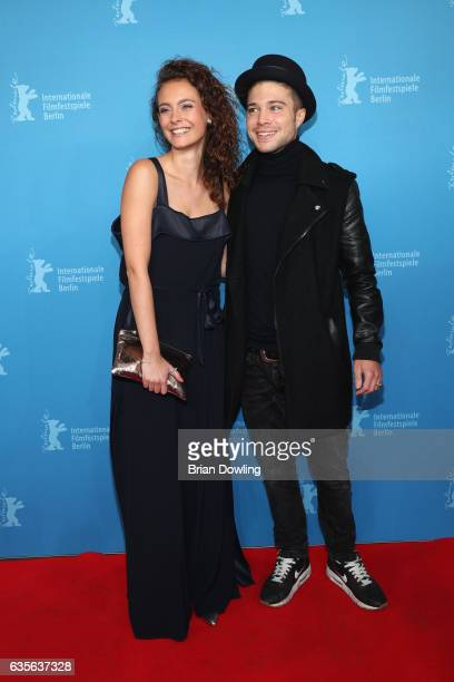 Muriel Wimmer and Jascha Rust arrive at the 'Der Gleiche Himmel' premiere during the 67th Berlinale International Film Festival Berlin at Haus Der...