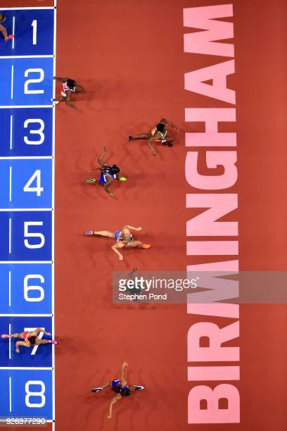 Murielle Ahoure of Cote D'Ivoire on her way to winning the 60 Metres Womens SemiFinal heat 1 during the IAAF World Indoor Championships on Day Two at...