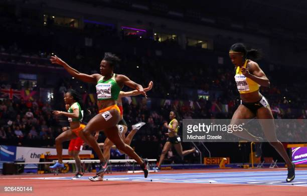 Murielle Ahoure of Cote D'Ivoire wins the 60 Metres Womens Final during the IAAF World Indoor Championships on Day Two at Arena Birmingham on March 2...