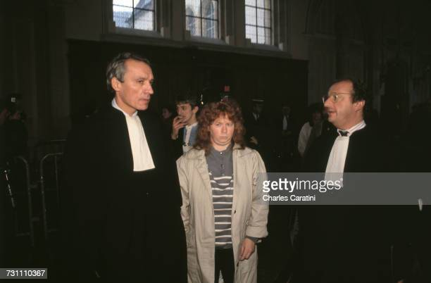 Murielle Bolle with her lawyer at the court of assizes of Côte d'Or Dijon France 3rd December 1993 Bolle is giving evidence in the trial of JeanMarie...