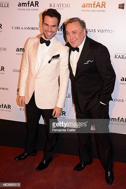 Murilo Lomas and Sig Bergamin attend amfAR's Inspiration Gala Sao Paulo on April 4 2014 in Sao Paulo Brazil