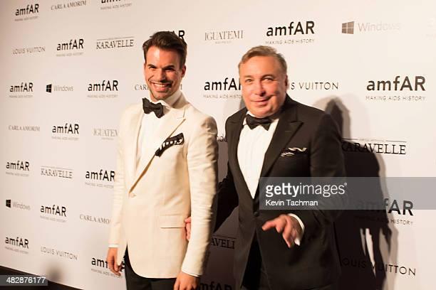 Murilo Lomas and Sig Bergamin attend the 2014 amfAR's Inspiration Gala Sao Paulo on April 4, 2014 in Sao Paulo, Brazil.