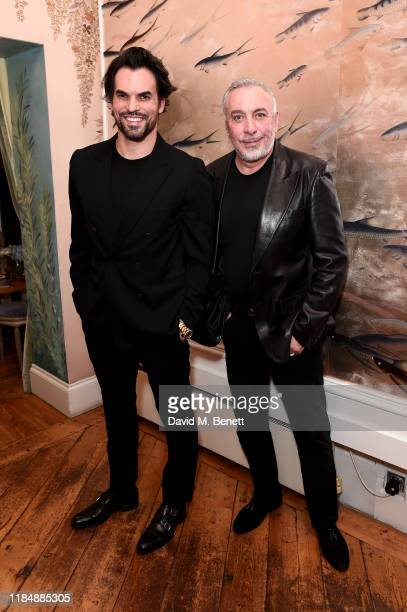 Murilo Lomas and Sig Bergamin attend the book signing cocktail party celebrating Brazilian designer, Sig Bergamin, hosted by De Gournay and...