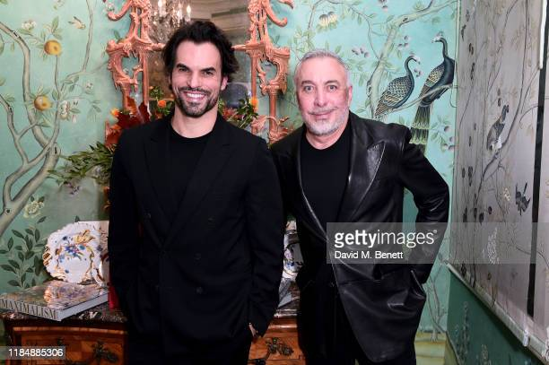 Murilo Lomas and Sig Bergamin attend the book signing cocktail party celebrating Brazilian designer Sig Bergamin hosted by De Gournay and Assouline...