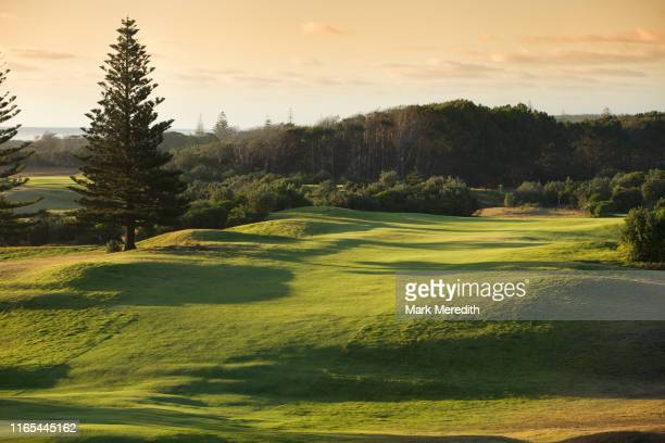 muriwai golf course on auckland's west coast - ゴルフリンクス ストックフォトと画像