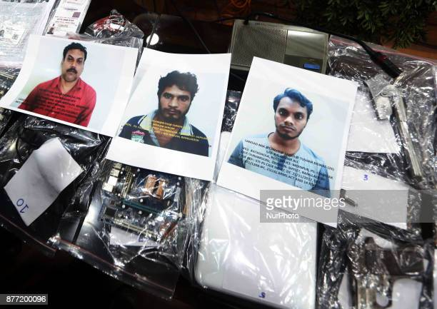 Murlidhar Sharma Deputy Commissioner of Police STF press conferences and show the Photographs Two suspected Bangladeshi terrorists arms dealer...